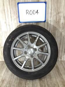 R004 タイヤホイール1本 DILETTO 4H/PCD100 155/65R14 4.5J Offset +43 ラジアルタイヤ DUNLOP ENASAVE