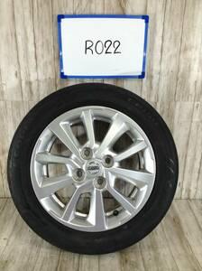 R022 タイヤホイール1本 日産 純正ホイール 4H/PCD100 155/65R14 4.5J Offset +46 ラジアルタイヤ ECOPIA EP150