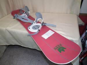 中古品 スノーボード TECHNO GEAR テクノギア フリースタイルボード 140㎝ BE!POPビンディング付き