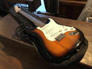 【美品】 Squier by Fender/スクワイヤー Vintage エレキギター ソフトケース付き スクワイア フェンダー