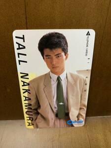 【非売品】仲村トオル 昭和のテレフォンカード 資生堂 オンエア 1988年 50度数テレカ