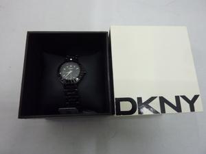 訳あり DKNY ダナキャラン 腕時計 NY-8302 レディース 黒 新品未使用品