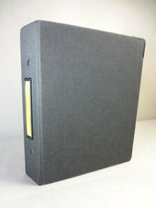 マルマンmaruman DATA PLAN リングファイル バインダー 保存ファイル B6 バイブルサイズ 6穴 布貼り ハードカバー システム手帖 黒