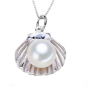 最高級の逸品 大粒淡水真珠 豪華 厳選 貝殻 レディースネックレス ホワイト 必見 オススメ プラチナ仕上 限定 ペンダント 最高純度