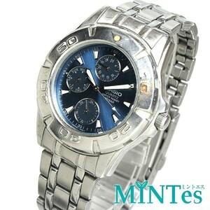 Casio カシオ スタンダード メンズ腕時計 クォーツ MTD-1047 クロノグラフ ネイビー文字盤 シルバー 人気