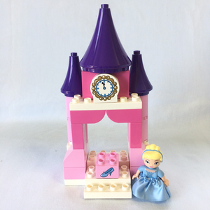 レゴ LEGO◆デュプロ シンデレラ ガラスの靴 ミニフィグ フィギュア ディズニープリンセス お城 おしろ シンデレラ城 お姫さま レア 10596