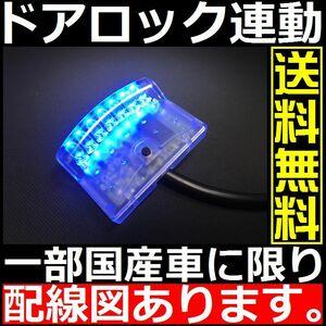 ダミー セキュリティ■社外 or 純正キーレス連動 青 ブルー 7連 LEDスキャナー■VIPER バラッド カーメイト スーパーバリケードよりお得 k