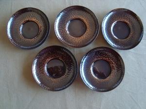 茶托 5枚揃え 純銅製 英純堂製 未使用品 プチ難あり