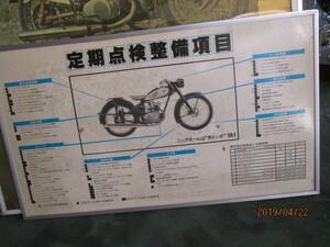 当時物ヤマハYA1作業工程表