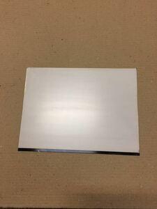 ステンレス板 SUS304 400番片側研磨 288㎜×215㎜ 約28cm×21cm 厚み1㎜ 2B材  5枚 送料60サイズ