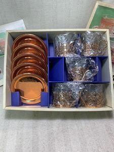 グレィスシリーズ TEA SET トレー付き ティーセット ブロンズ仕上げ 年代物 掘り出し物 まずらしい食器 おしゃれ レトロ