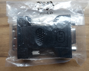 DVI-Iオス - D-Sub15pinメス 変換アダプター 新品未開封