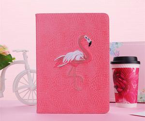 ipad mini5 ケース iPad mini(第5世代) 7.9インチ ケース シリコンケース 手帳型 段階調整 おしゃれ 鶴 ピンク
