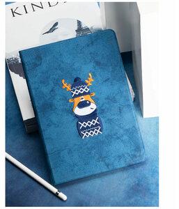 ipad mini5 ケース iPad mini(第5世代) 7.9インチ ケース 手帳型 ソフトケース オートスリープ機能付き 3D 刺繍 ヘラジカ