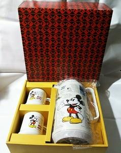象印「ミッキーマウス ホーローマグカップ 2個 ハミルポット 1個」ディズニー