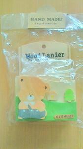 自然のぬくもり ハンドメイド 木製 かわいい クマさんの レターホルダー 新品 未使用 未開封 手紙入れ 整理用品 ウオッチ有
