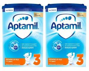 【800g 2箱セット・1歳から】Aptamil (アプタミル) 乳児用粉ミルク [ヌクレオチド配合]