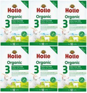 【400g 6箱セット・1歳から】ホレ オーガニック有機原料使用・ヤギミルク (Holle Organic Infant Goat Milk) 乳児用ゴート粉ミルク