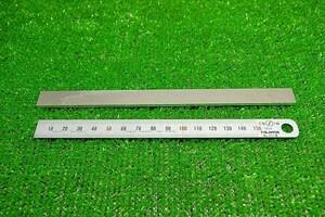 【ZAA-1421】 ジャンク アルミ 短冊板 185mmx13mm 板厚2.5mm