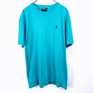 ポロ ラルフローレン Sサイズ ワンポイント 半袖 カットソー POLO Ralph Lauren メンズ Tシャツ グリーン 緑