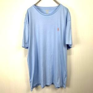 ポロ ラルフローレン Mサイズ ワンポイント 半袖 カットソー POLO Ralph Lauren メンズ Tシャツ ブルーパープル 青紫