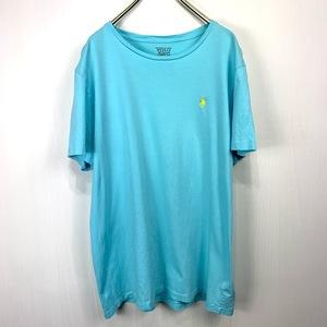 ポロ ラルフローレン Lサイズ ワンポイント 半袖 カットソー POLO Ralph Lauren メンズ Tシャツ ライトグリーン 緑