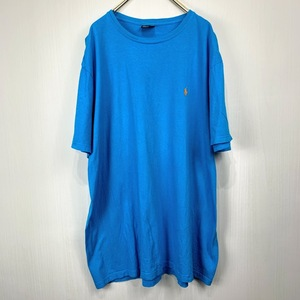 ポロ ラルフローレン XLサイズ ワンポイント 半袖 カットソー POLO Ralph Lauren メンズ Tシャツ 青 ブルー
