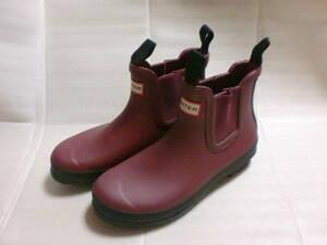 HUNTER レインブーツ 長靴 5 赤 ハンター 雨靴 ショート ユナイテッドアローズ