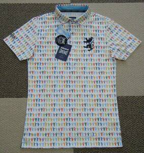 アドミラル admiral THE BEATLES HELP ゴルフ用高機能ポロシャツ 白系 サイズ M 吸水速乾/UV機能 限定品 日本製 定価 18,700円