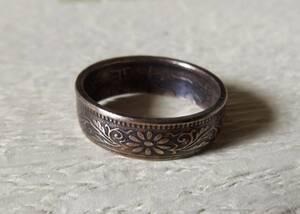 21号サイズ コインリング 指輪 新品 未使用 送料無料  (9438) ハンドメイド アンテーク 古銭 貨幣 硬貨 手作り メンズ 男