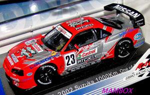 【フリマ】EB☆1/43 43391 ニスモ NISMO GT-R V6 2002 SUZUKA 1000km シルバー 2760台限定