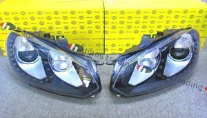 希少 VW ゴルフ6 GOLF6 キセノンヘッドライト LEDデイライト付 左右/HELLA製 純正OEM キセノンヘッドランプ 日本仕様 フォルクスワーゲン