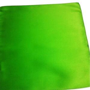 【ポケットチーフ】日本製/朱子 シルク■無地 グリーン/黄緑