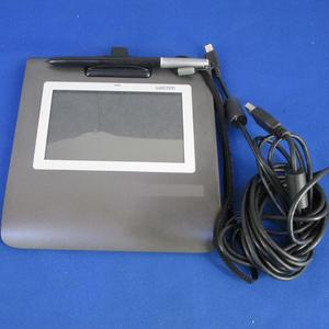 ^Wacomwa com 5 -дюймовый широкий цвет жидкокристаллический автограф планшет STU-530/G б/у авторучка держатель . трещина есть ^#3