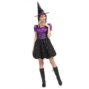 バルーンウィッチ パープル 魔女 コスプレ 衣装 ハロウィン 未使用