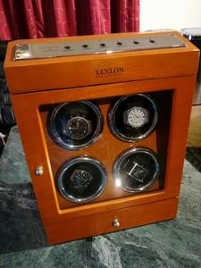 * beautiful * free shipping * very beautiful clock 4 piece attaching!! winding machine ( tea color )