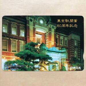【使用済】 オレンジカード JR東日本 東京駅開業80周年記念