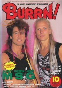 BURRN! McAULEY SCHENKER GROUP/MSG/GILLAN/ELP/DEF LEPPARD/METALLICA/IRON MAIDEN/POISON/ヘヴィ・メタル・マガジン1986年10月号