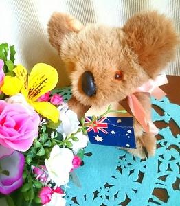 【レア!80年代当時物】ふわふわ手触り♪ オーストラリア シドニー HARISS コアラ ゼンマイ式オルゴール付き人形 ※一部ジャンクあり