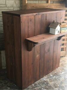 [K-217] из дерева счетчик *reji счетчик * кухонный прилавок * магазин инвентарь *H80*W72*D31* Country мебель