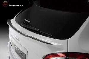 【WALD Black Bison Edition】 PORSCHE 958 -14y Cayenne FRP リアゲートスポイラー カイエン スポイラー ヴァルド バルド ゲート リヤ