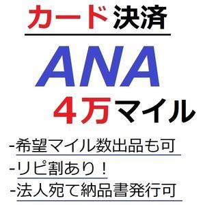 ANA40000マイル加算●国内線や国際線特典航空券予約発券や提携施設利用に/ANA4万マイル/ANA40,000マイル/マイレージ/カード決済許可/施