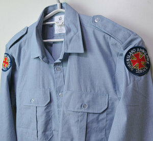 古着●オーストラリア救急隊 長袖シャツ クイーンズランド州 L相当 xwp