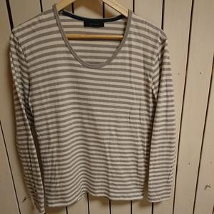 送料210円~◆レイジブルー◆ボーダー長袖Tシャツ グレー×白 メンズMサイズ RAGEBLUE