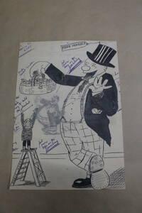 ビンテージ  アンティーク アメリカサイン USA アメリカ製 US インダストリアル  カートゥーン 漫画 ハンドペイント