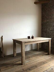 数量限定 OWT-150 ダイニングテーブル テーブル デスク ワークデスク カフェテーブル 作業台 古材 机
