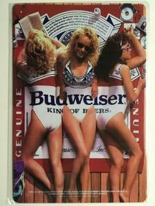 ブリキ看板 20×30cm Budweiser バドワイザー SEXYバドガール 縦 アメリカンガレージ アンティーク 雑貨 ★TINサイン★