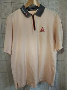 le coq sportif ルコックスポルティフ ルコック ゴルフ コレクション 半袖ポロシャツ Mサイズ ピンク ゴルフウェア メンズ