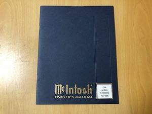 MCINTOSH マッキントッシュ C40 オーナーズマニュアル 英語表記