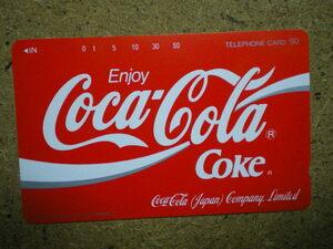 cola・110-73069 コカコーラ 裏KDD字あり 1つ切り込み 未使用 50度数 テレカ